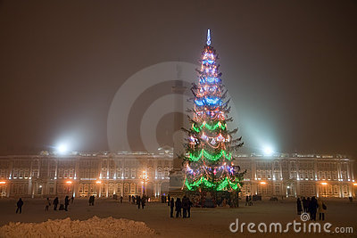 Christmas at Palace square in Saint-Petersburg