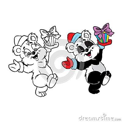 Christmas panda bear