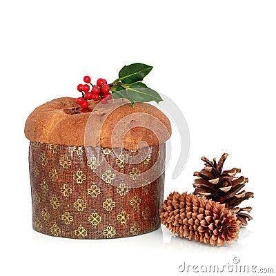 Free Christmas Panetone Cake Stock Photos - 10320703
