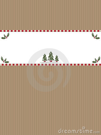 Christmas paper banner