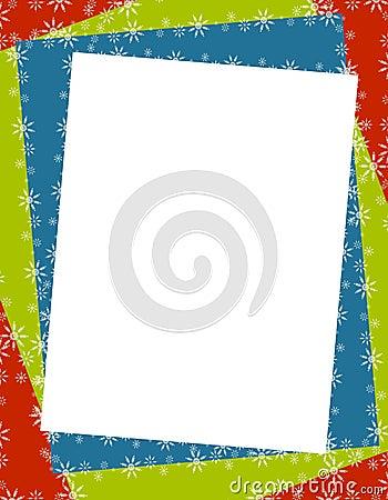 Christmas Paper Frame Border