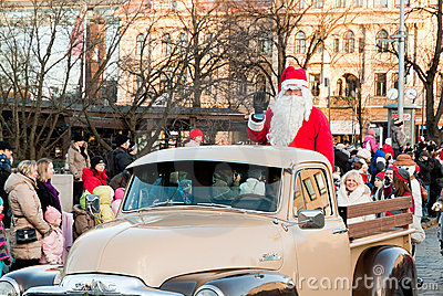 Christmas parade Editorial Stock Image