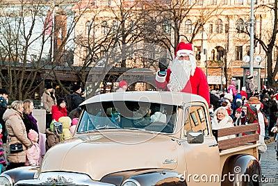 Christmas parade Editorial Stock Image