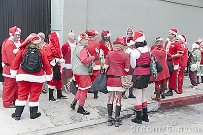 Christmas parade in Hollywood Editorial Stock Image