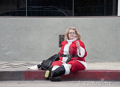 Christmas parade in Hollywood Editorial Stock Photo