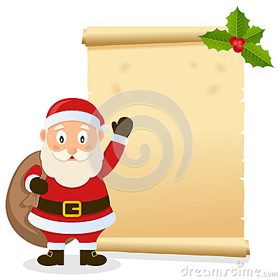 Christmas Parchment with Santa Claus