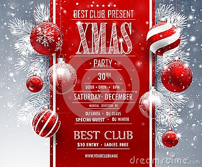 Christmas Party design Vector Illustration