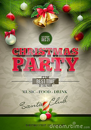 Free Christmas Party Poster Stock Image - 35066791