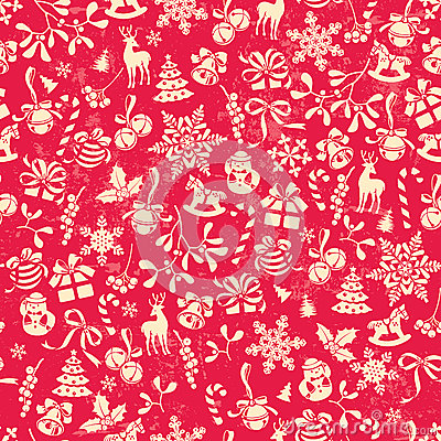 Free Christmas Pattern Stock Image - 27094971