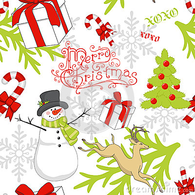 Free Christmas Pattern Royalty Free Stock Photography - 27141347