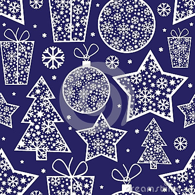 Christmas pattern with decorative elements