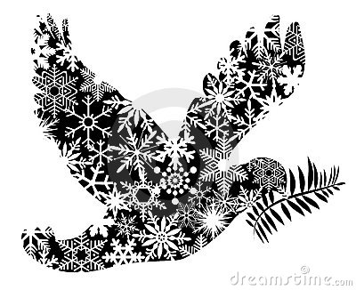 Christmas Peace Dove Silhouette
