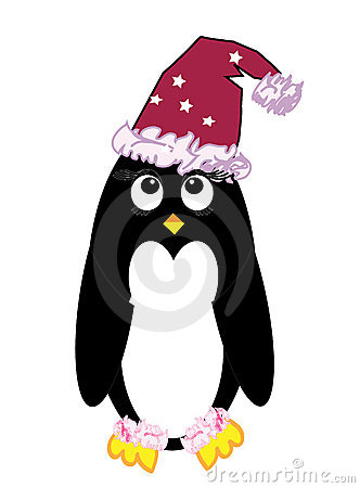 Christmas penguin cartoon