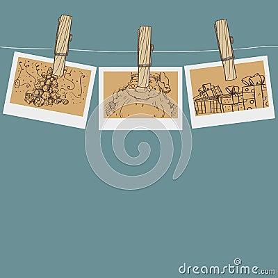 Christmas photo on a clothespin