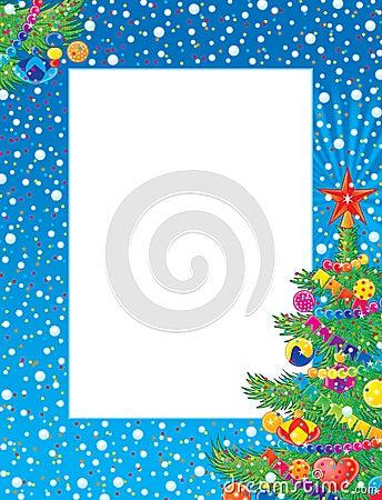 Free Christmas Photo-frame Royalty Free Stock Photos - 1382078