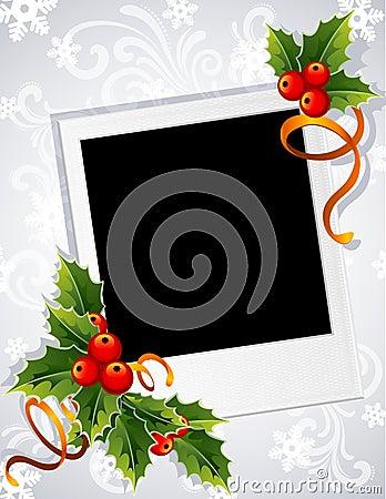 Free Christmas Photo Frame Royalty Free Stock Photography - 16577507