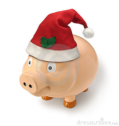 Christmas Piggy Money Santa Gift