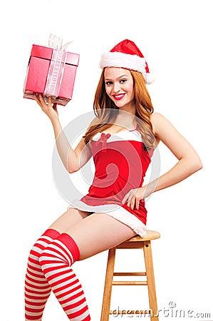 Christmas pinup girl