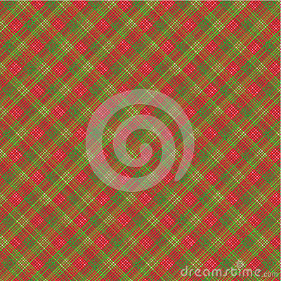 Free Christmas Plaid Background, With Seamless Pattern Stock Photos - 24991163