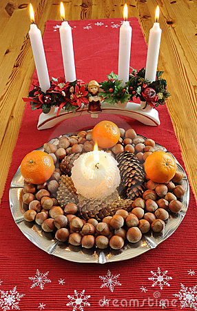 Christmas plate with delicacies