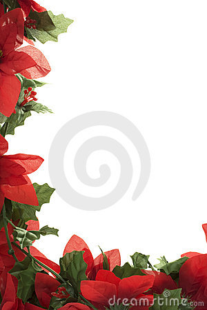 Christmas Poinsettia Border