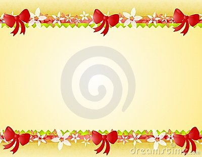 Christmas Poinsettia Bows Border