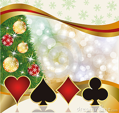 Free Christmas Poker Casino Card Stock Photography - 34890372