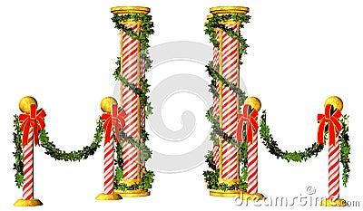 Christmas poles