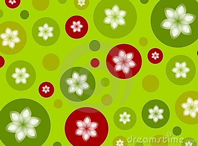 Christmas Polka Dot Poinsettia Background