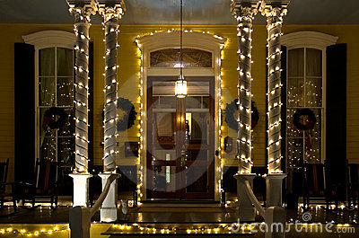 Christmas porch victorian
