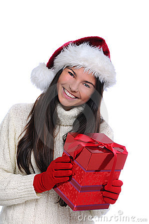Christmas Portrait Female Teenager