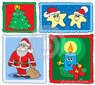 Christmas post stamps collection 2