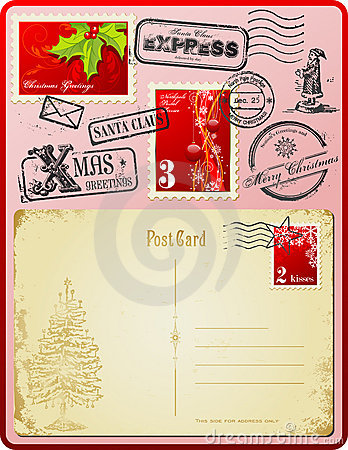 Free Christmas Postage Set Stock Photography - 10087022