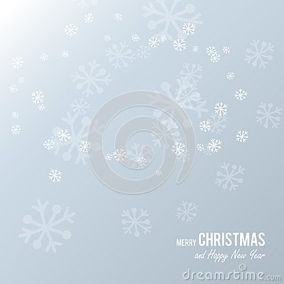Free Christmas Postcard With White Paper Snowflakes On A Light Blue Background. Stock Photography - 125997902
