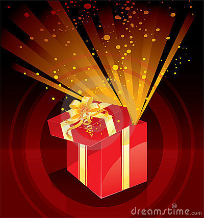Christmas present box magic