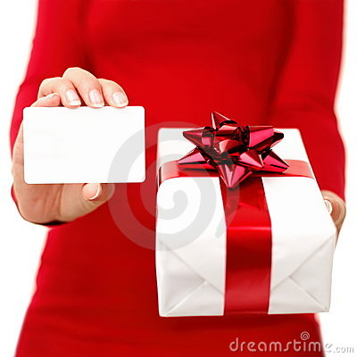 Christmas present and gift card