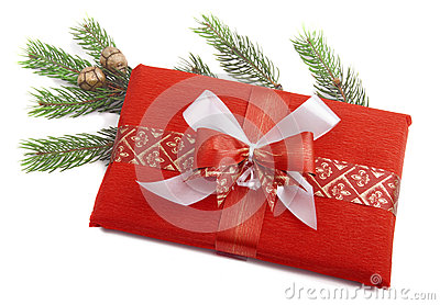 Christmas Present in red