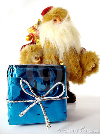 Christmas present with Santa