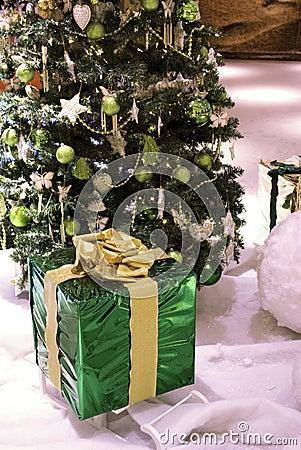 Christmas present and tree