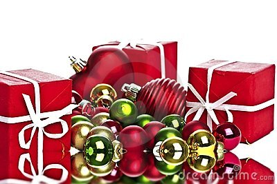 Christmas presents and christmas balls