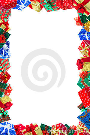 Free Christmas Presents Frame Royalty Free Stock Images - 7099409