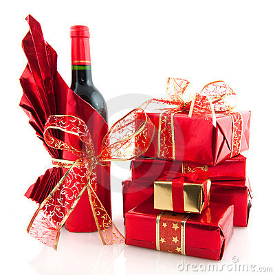 Free Christmas Presents In Red Royalty Free Stock Photo - 12205055