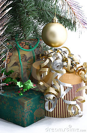Free Christmas Presents Under Tree Royalty Free Stock Photography - 315637