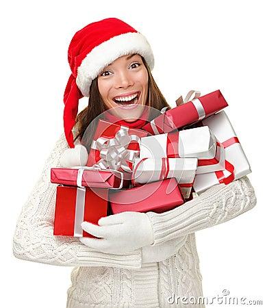 Christmas Presents woman