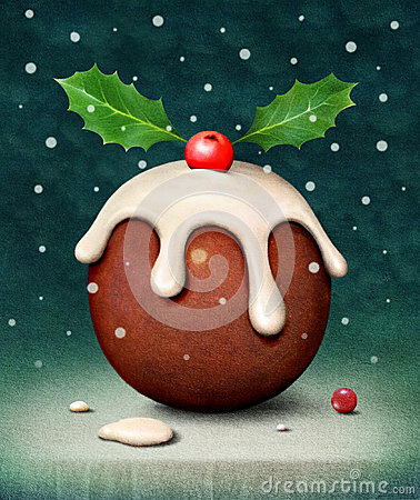 Free Christmas Pudding Royalty Free Stock Photos - 32378788