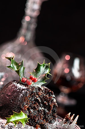 Free Christmas Pudding Angle Royalty Free Stock Photos - 11223928