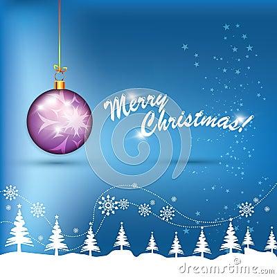 Christmas Purple Globe