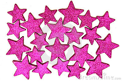 Christmas purple stars