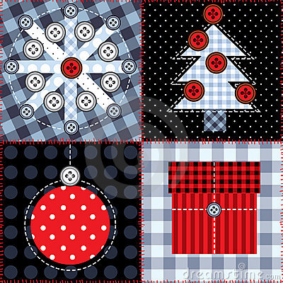 Christmas quilting design