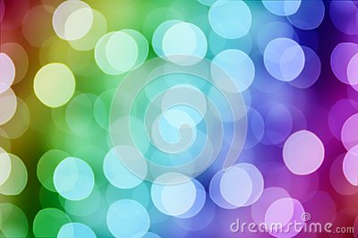 Christmas rainbow bokeh
